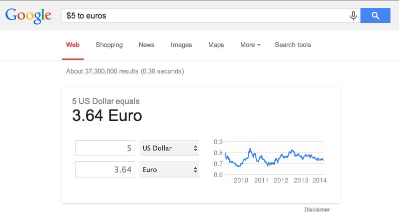 improve search skills convert currency